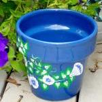 Blue Flower Pot/ Planter W..