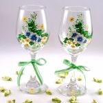 Painted Wine Glasses With ..