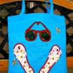 Beach Tote Bag With Flip F..